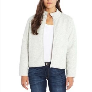 Three Dots Ladies' Quilted Jacket Gray